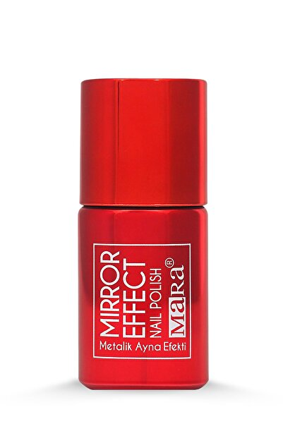 Mara Kırmızı Metalik Ayna Efektli Oje