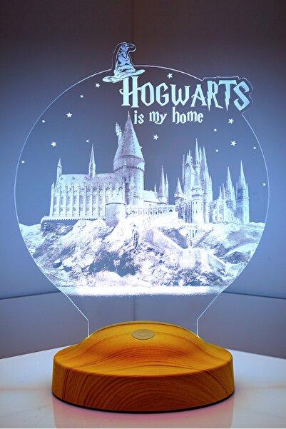 SEVGİLAMBASI 3d Harry Potter Hogwarts Hediyesi 3 Boyutlu Led Lamba