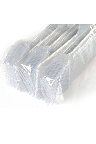 PACK Plastik Lüks Sağlam Çatal 100 ' Adet