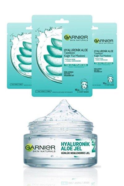 Garnier Hyaluronik Aloe Jel Krem 50 ml + Hyaluronik Aloe Maske X3