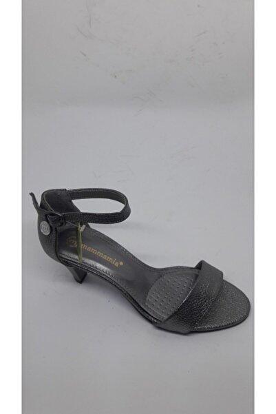Mammamia Kadın Platin Simli Sandalet