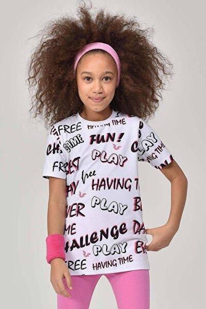 bilcee Pembe Unisex Çocuk T-Shirt GS-8182