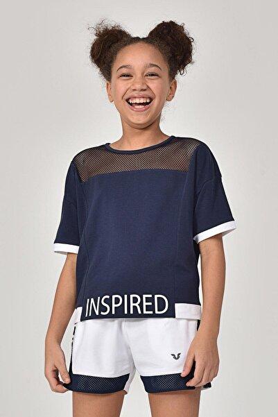 bilcee Lacivert Kız Çocuk T-Shirt GS-8193