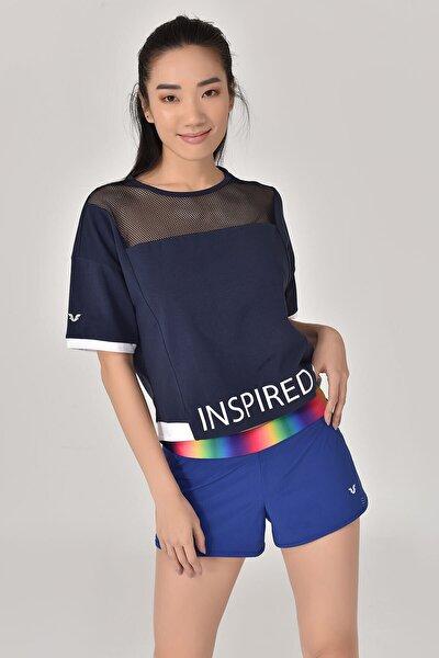 bilcee Lacivert Kadın T-Shirt GS-8080