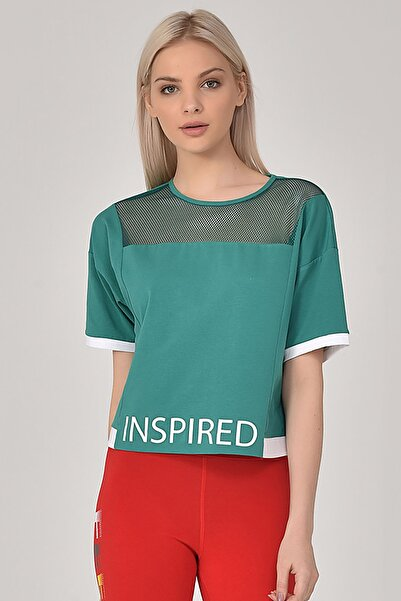 bilcee Yeşil Kadın T-Shirt GS-8080