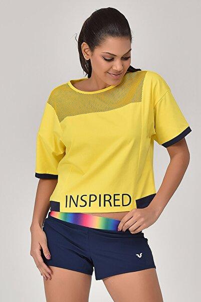 bilcee Sarı Kadın T-Shirt GS-8080