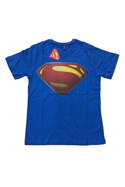 Superman Erkek Mavi Tshirt
