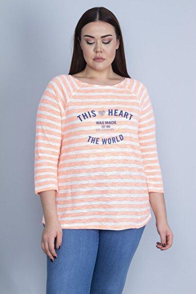 Şans Kadın Renkli Ön Baskılı Bluz 65N23051