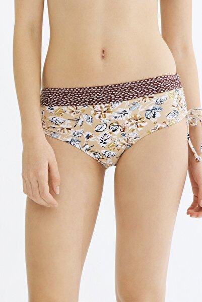 Penti Kadın Kahverengi Baskılı Bikini Altı
