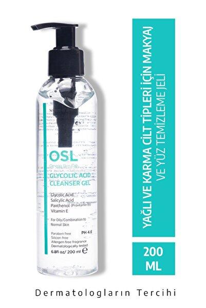 OSL Omega Skin Lab Glycolic Cleanser Gel 200ml Yağlı Ve Karma Cilt Tipi Için Makyaj Ve Yüz Temizleme Jeli