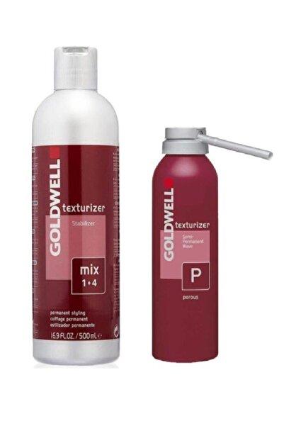 GOLDWELL Texturizer P Boyalı Saçlar Için Geçici Perma Losyonu 200 Ml + Stabilizer Sabitleyici Losyon 500 Ml