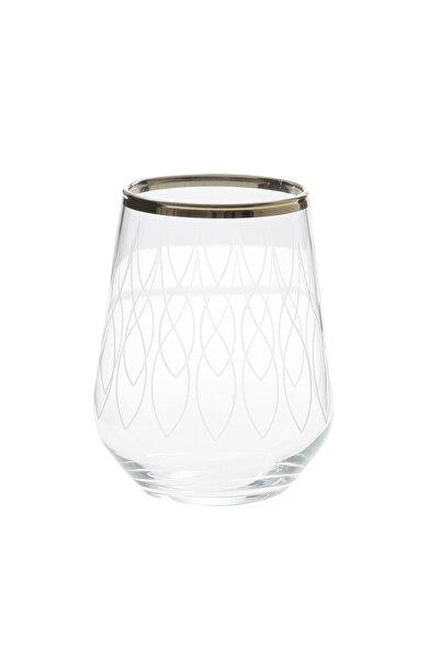Paşabahçe West Glass Gold Kaplama 6'lı Allegra Meşrubat Bardağı Wave Desen