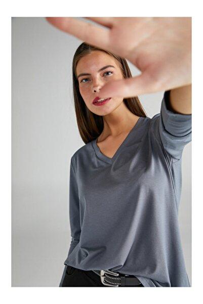 Faik Sönmez V Yaka Uzun Kol T-shirt 63022