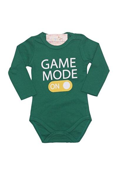 Fuar Baby Game Mode Baskılı Yeşil %100 Pamuk Body
