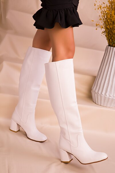 SOHO Kadın Beyaz Çizme 15481