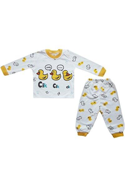 Süpermini Ördek Baskılı Bebek Pijama Takım