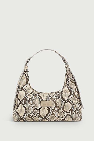 Housebags Kadın Yılan Derisi Desenli Baguette Çanta 205