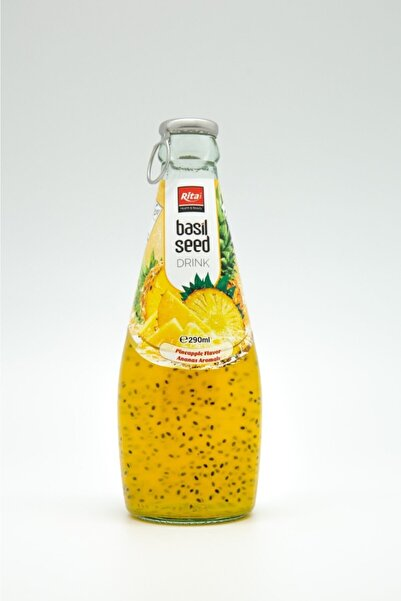 Rita 6 Adet X Fesleğen Tohumlu Içecek - Ananas ( Basil Seed Drink With Pineapple)