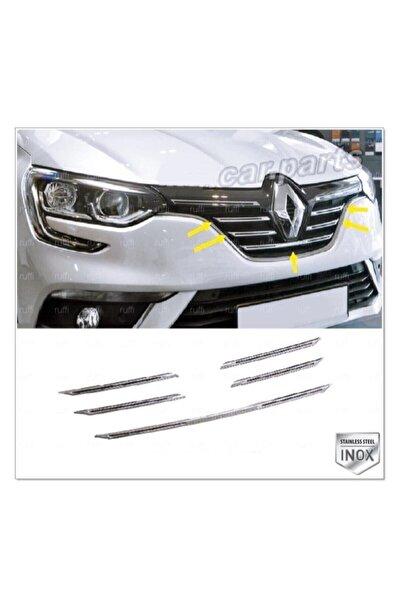FAMS OTO AKSESUAR Renault Megane 4 Krom Ön Panjur 5 Prç. 2016 Üzeri P. Çelik