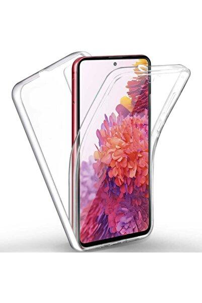 Samsung Galaxy A12 Kılıf 360 Derece Tam Koruma Şeffaf Yumuşak Silikon