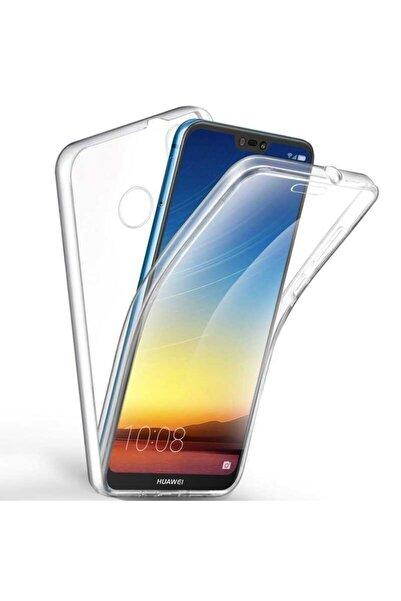 Huawei P20 Lite Uyumlu Kılıf 360 Derece Tam Koruma Şeffaf Yumuşak Silikon