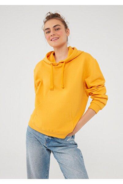 Mavi Sarı Kapüşonlu Sweatshirt 167299-35004