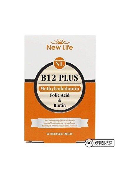 New Life Newlife B12 Plus - 60 Dilaltı Tablet - B12 Vitamini, Folik Asit