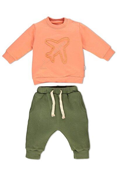 Bebetto İki İp Sweatshirt 2'li Bebe Takım Alt Üst Uçaklı Aırplane