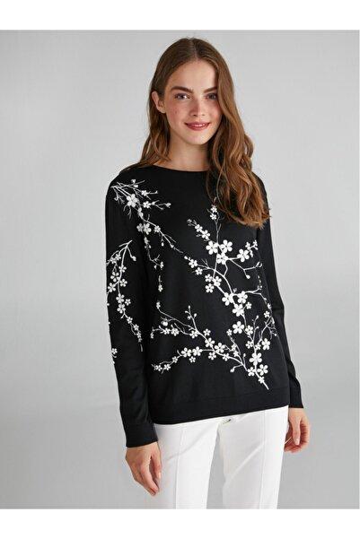 Faik Sönmez Çiçek Baskılı Triko Bluz 63541