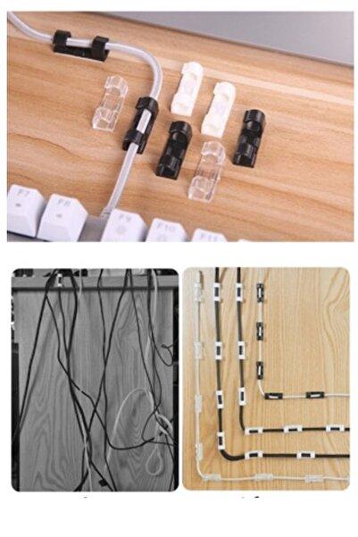 Kitchen Beauty Kablo Düzenleyici Klipsler Kablo Sabitleyici Duvar Fayans Cam Kablo Tutucu Yapışkanlı Klips 20 Adet