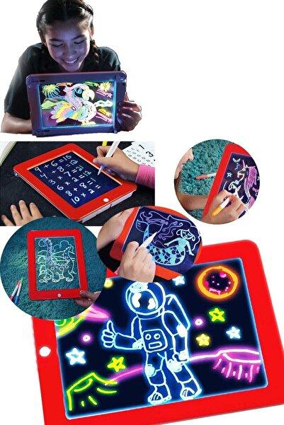 Premium Ticaret Magic Pad Çocuk Eğitici Sihirli Işıklı Kalemli Pilli Pad Öğretici