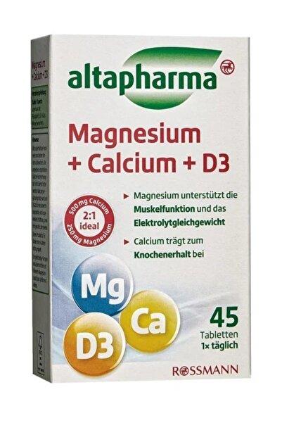 Altapharma Magnezyum + Kalsiyum + D3