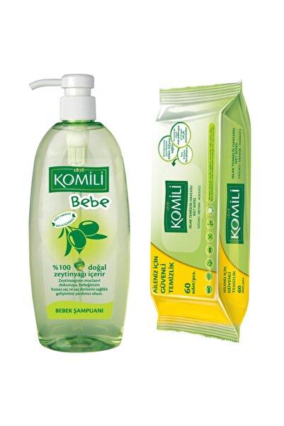 Komili Baby 750 ml Bebek Şampuanı + Islak Mendil