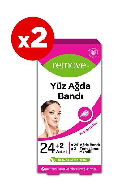 remove Yüz Ağda Bandı Hassas X2 Adet