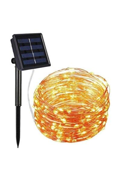 SpySoft Solar Güneş Enerjili 12 Metre 100 Led Dış Bahçe Aydınlatma Su Geçirmez Led 600mah