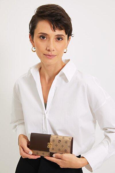 Pierre Cardin Altın Monogram Kadın Cüzdan 06PO21Y1316