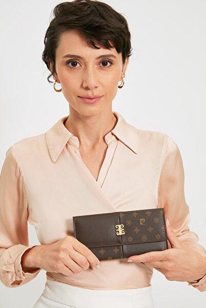 Pierre Cardin Kahve Monogram Kadın Cüzdan 06PO21Y1316