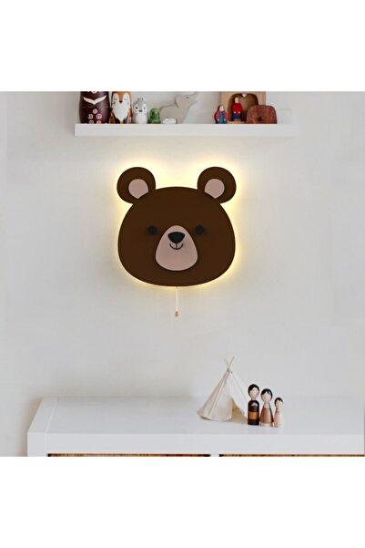 woodcas Çocuk Odası Dekoratif Sevimli Ayı Gece Lambası Led Aydınlatma
