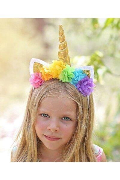 Kokoş Aksesuar Özel Tasarım Çiçekli Unicorn Taç