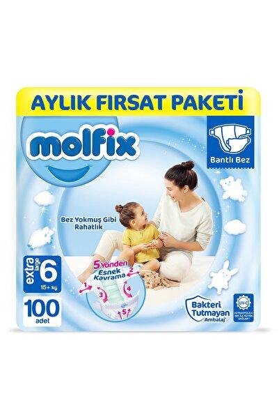 Molfix Bebek Bezi 6 Beden Extra Large Aylık Fırsat Paketi 100 Adet