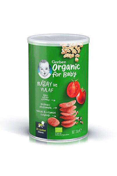 GERBER Organik Buğday Ve Yulaflı , Domates, Havuç Ve Soğanlı Bebek Atıştırmalığı 35 Gr