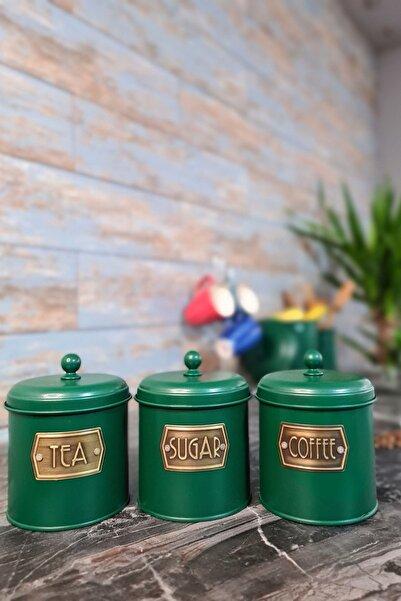 The Mia Koyu Yeşil Çay Şeker Kahve Kavanozu