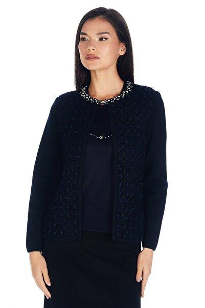 Solo Kadın Lacivert Triko Ceket