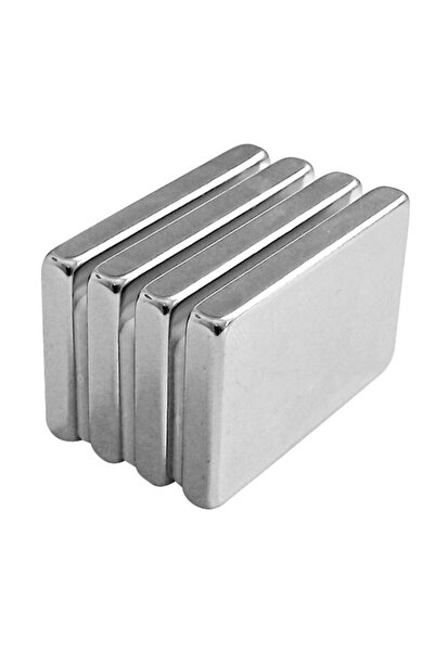 Aida 15x6x2mm Neodyum 50 Adet Köşeli Blok Güçlü Mıknatıs