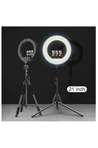 ELROND Ring Light Led Işık Halkası 21 Inç 54 cm Profesyonel Stüdyo Işığı Ve 210 cm Monopod Güzellik Merkezi