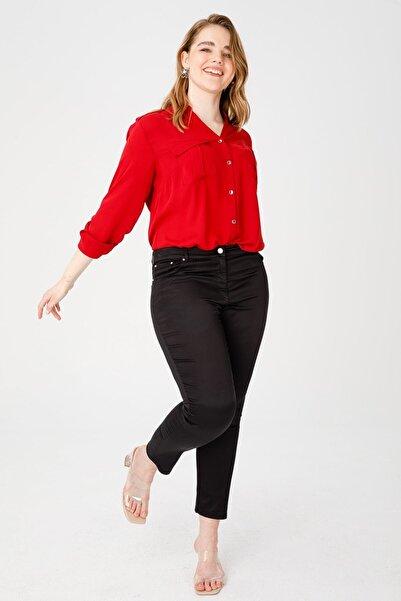Ekol Kadın Parlak Likralı Pantolon