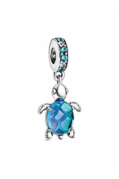 Pandora Murano Camı Denizi Kaplumbağası Sallantılı Charm