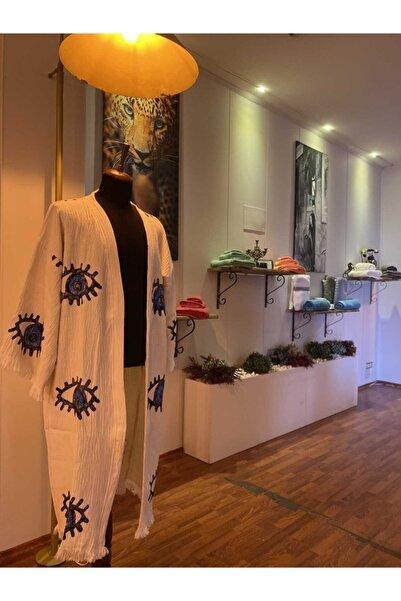 Metexhavlu %100 Pamuklu Doğal Kimono