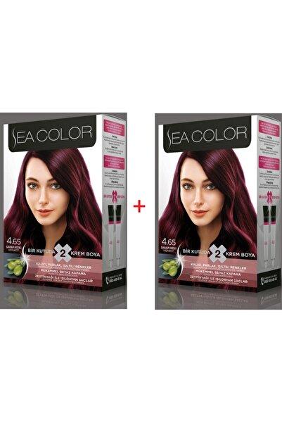 Sea Color 4.65 Şarap Kızılı Set Boya 2 Kutu (her Kutuda; 2 Tüp Boyası (2x50 ml) +oksidasyon 75ml