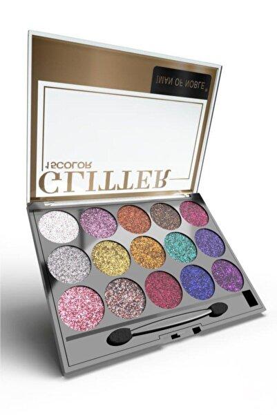 IMAN OF NOBLE Glitter 15'li Simli Far Paleti 01